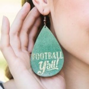 🏈 FOOTBALL Y'ALL LEATHER EARRINGS 🏈
